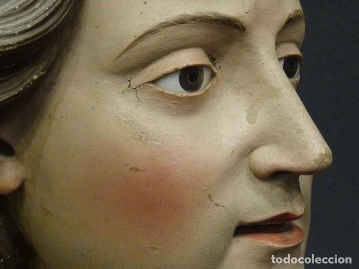 Arte: Cabeza de María Magdalena en terracota napolitana, S.XVIII - Foto 10 - 194326406