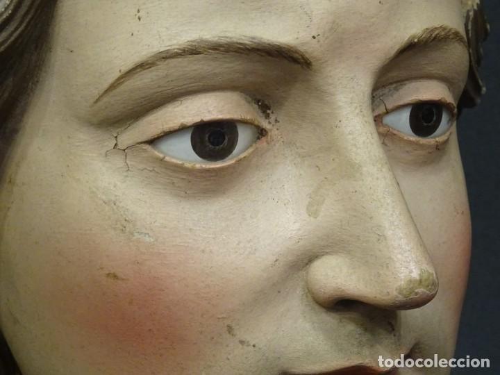Arte: Cabeza de María Magdalena en terracota napolitana, S.XVIII - Foto 12 - 194326406