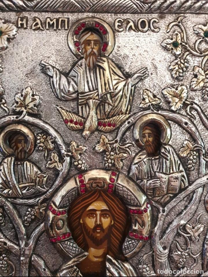 Arte: Réplica de icono bizantino de plata 950-999 - Foto 2 - 194339118