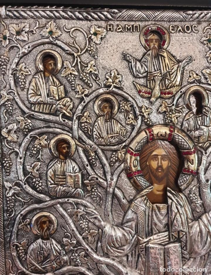 Arte: Réplica de icono bizantino de plata 950-999 - Foto 3 - 194339118