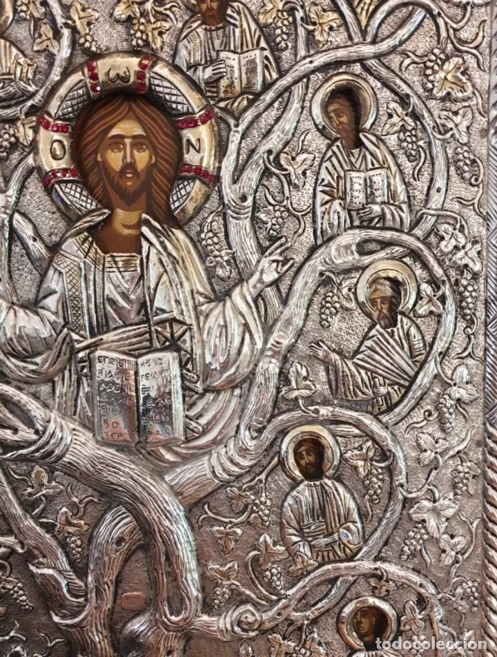 Arte: Réplica de icono bizantino de plata 950-999 - Foto 4 - 194339118