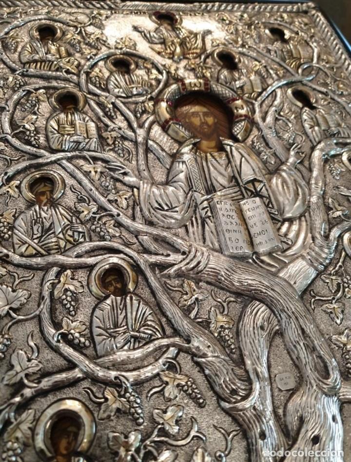 Arte: Réplica de icono bizantino de plata 950-999 - Foto 5 - 194339118