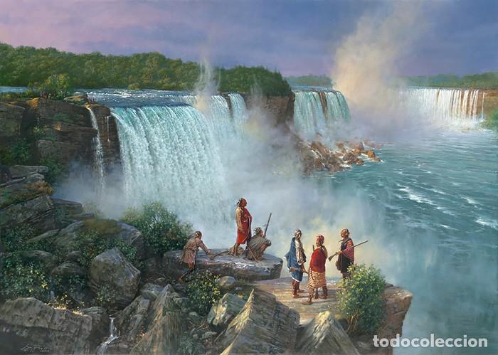 ROBERT GRIFFING THUNDERING WATER LITOGRAFIA (Arte - Arte Religioso - Litografías)