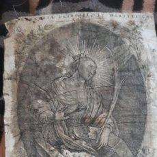 Arte: GRABADO MUY ANTIGUO DE SANTA CHATARINA MEDIDAS 40 X 30 SE APRECIA SUCIO. Lote 194351552