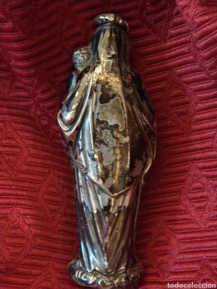 Arte: Bonita virgen con niño. Plata. Siglo XVIII. - Foto 5 - 194353685