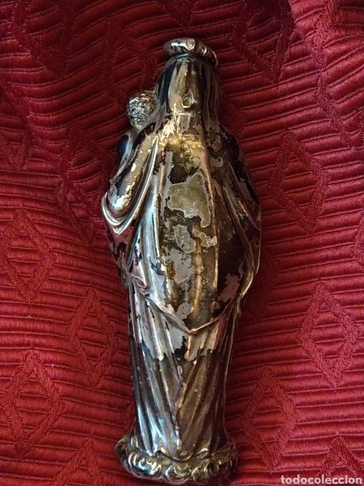 Arte: Bonita virgen con niño. Plata. Siglo XVIII. - Foto 6 - 194353685