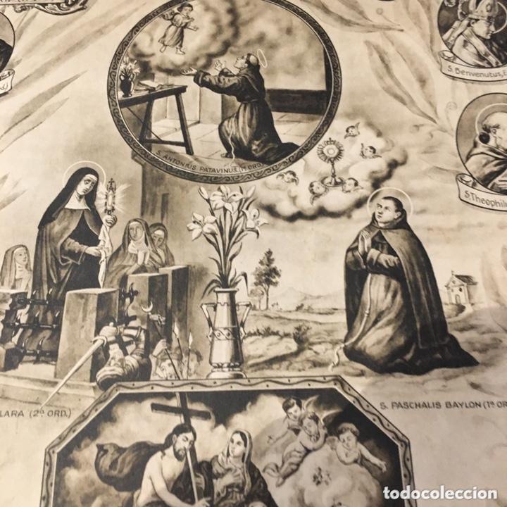 Arte: Advocaciones de San Francisco de Asís, marco tallado - Foto 5 - 194210407