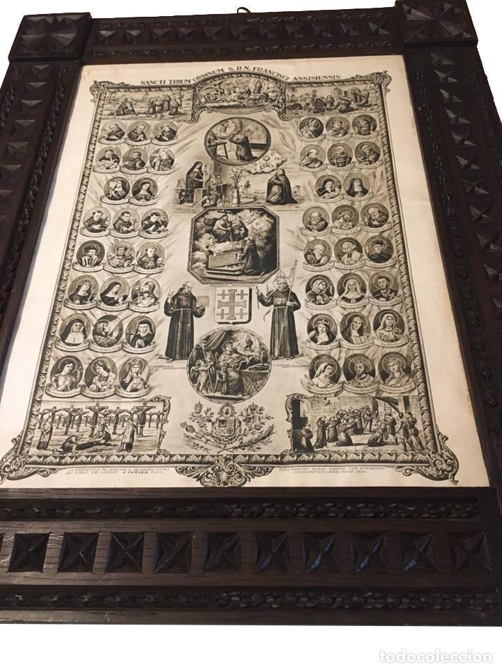 ADVOCACIONES DE SAN FRANCISCO DE ASÍS, MARCO TALLADO (Arte - Arte Religioso - Pintura Religiosa - Otros)