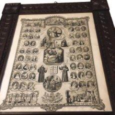 Arte: ADVOCACIONES DE SAN FRANCISCO DE ASÍS, MARCO TALLADO. Lote 194210407