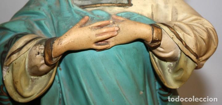 Arte: PRECIOSA VIRGEN EN PASTA DE MADERA DE LAS ARTES DECORATIVAS DE PEDRO LLORET (OLOT) - Foto 8 - 194404716