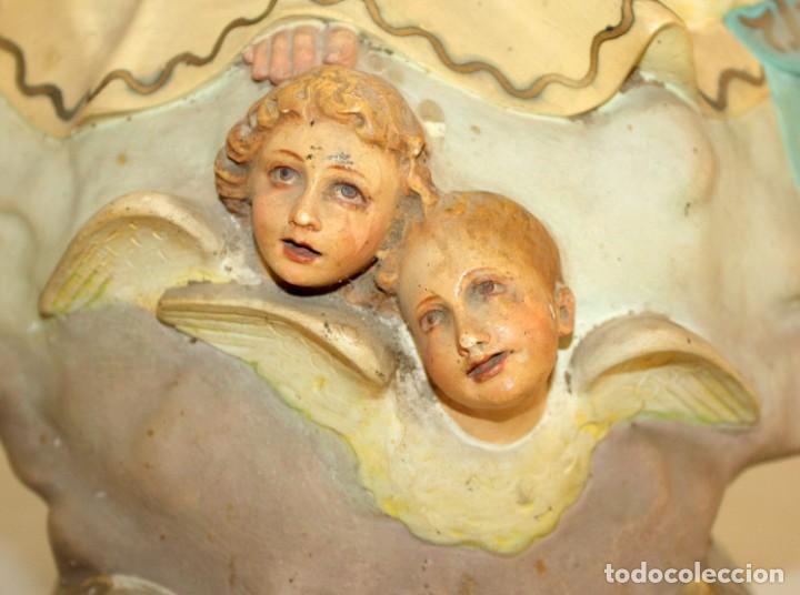Arte: PRECIOSA VIRGEN EN PASTA DE MADERA DE LAS ARTES DECORATIVAS DE PEDRO LLORET (OLOT) - Foto 11 - 194404716