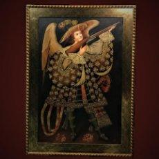 Arte: ESPECTACULAR ANGEL ARCABUCERO GRAN FORMATO 148X108 CMS. Lote 194493860