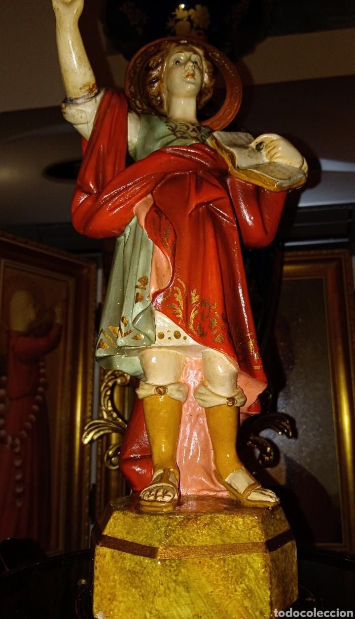 Arte: ANTIGUA IMAGEN RELIGIOSA SAN PANCRACIO - PASTA DE MADERA DE OLOT - - Foto 4 - 194507247