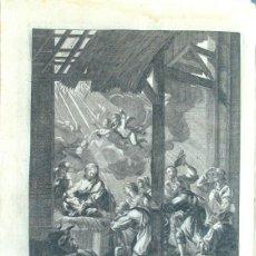 Arte: ANTIGUO GRABADO AL AGUAFUERTE. ESCENA DEL NACIMIENTO. 1732. Lote 194526910