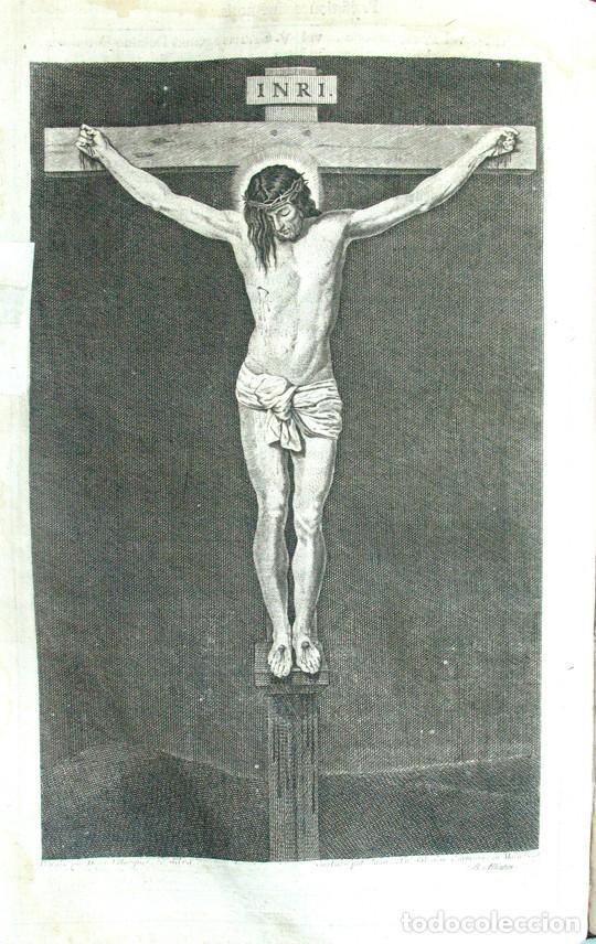 DIEGO DE VELAZQUEZ DE SILVA. CRISTO CRUCIFICADO. ANTIGUO AGUAFUERTE. 1732. GRABADO JUAN CARMONA. (Arte - Arte Religioso - Grabados)