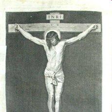Arte: DIEGO DE VELAZQUEZ DE SILVA. CRISTO CRUCIFICADO. ANTIGUO AGUAFUERTE. 1732. GRABADO JUAN CARMONA.. Lote 194527010