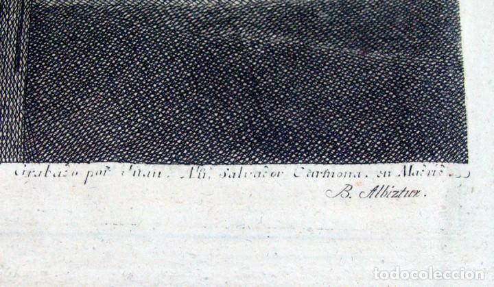 Arte: DIEGO DE VELAZQUEZ DE SILVA. CRISTO CRUCIFICADO. ANTIGUO AGUAFUERTE. 1732. GRABADO JUAN CARMONA. - Foto 2 - 194527010