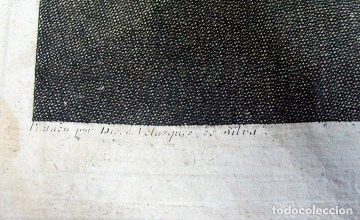 Arte: DIEGO DE VELAZQUEZ DE SILVA. CRISTO CRUCIFICADO. ANTIGUO AGUAFUERTE. 1732. GRABADO JUAN CARMONA. - Foto 3 - 194527010