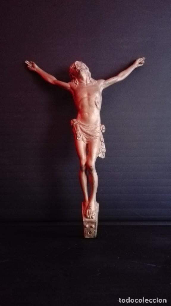 Arte: CRUZ DE MADERA CON IMAGEN EN METAL - Foto 4 - 194540008