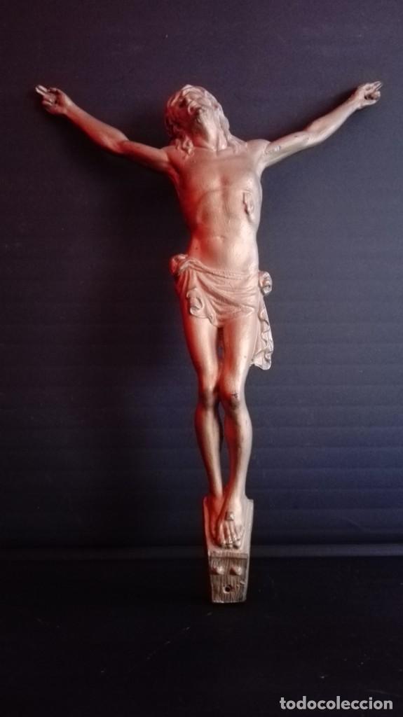 Arte: CRUZ DE MADERA CON IMAGEN EN METAL - Foto 5 - 194540008