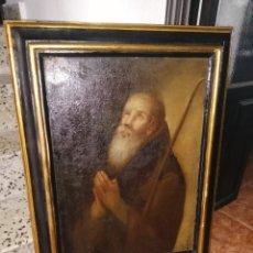 Arte: SAN ANTONIO ABAD. ÓLEO SOBRE TELA. SIGLO XVIII-XIX. 134 CM X 102 CM. Lote 194573036