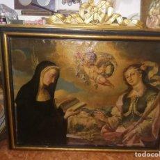 Arte: SANTA MARIA Y SANTA FLORA OLEO LIENZO 133 CM X 124 CM. Lote 194574816