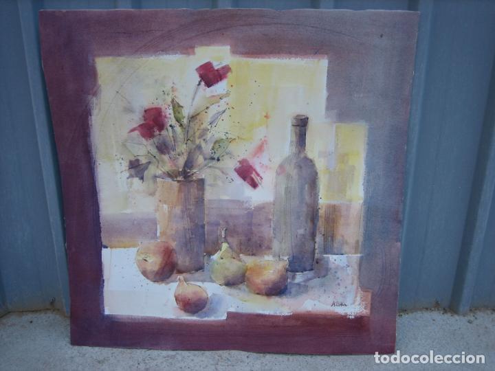 Arte: Acuarela . Almudena Bellido Fdez-Montes. M 80x80 cm - Foto 2 - 194618301