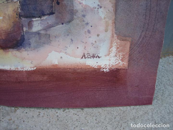 Arte: Acuarela . Almudena Bellido Fdez-Montes. M 80x80 cm - Foto 4 - 194618301