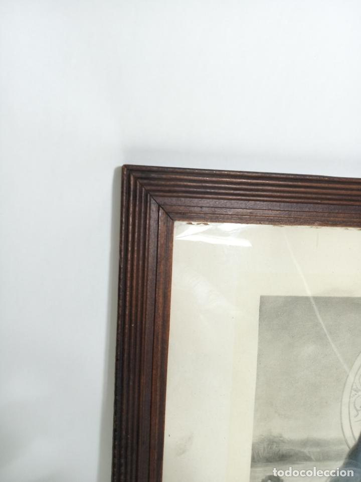 Arte: Muy bella litografía o grabado del sagrado corazón de Jesús. Estilo de artistas italianos. Da Vinci. - Foto 3 - 194623127