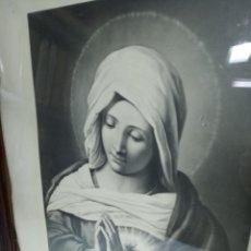 Arte: MUY BELLA LITOGRAFÍA O GRABADO DE LA VIRGEN MARÍA. ESTILO DE ARTISTAS ITALIANOS. DA VINCI, MIGUEL A.. Lote 194623343