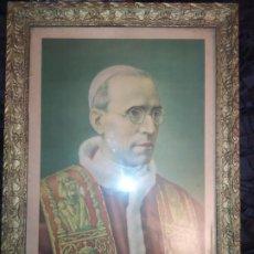 Arte: LITOGRAFÍA PAPA PIO XII ORTEGA VALENCIA ENMARCADA ÚNICO?. Lote 194642995