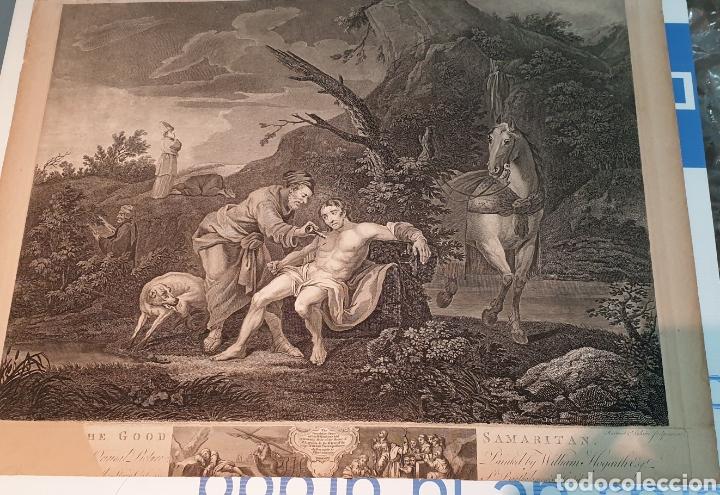 Arte: Grabado antiguo William Hogarth. El buen samaritano - Foto 2 - 194731395