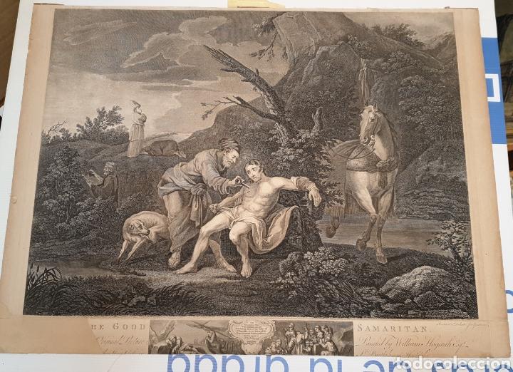 Arte: Grabado antiguo William Hogarth. El buen samaritano - Foto 3 - 194731395