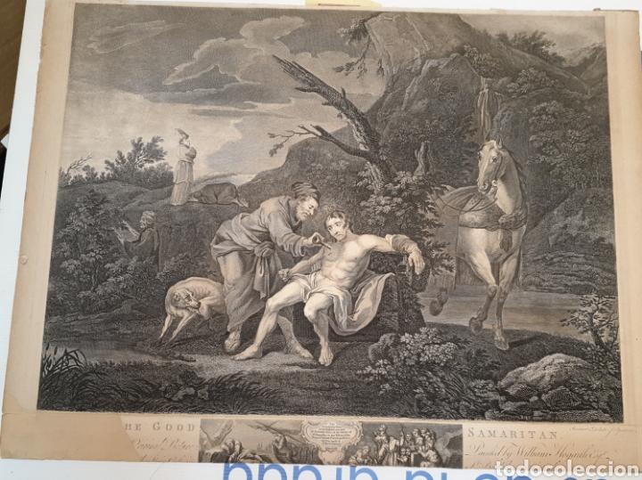Arte: Grabado antiguo William Hogarth. El buen samaritano - Foto 4 - 194731395