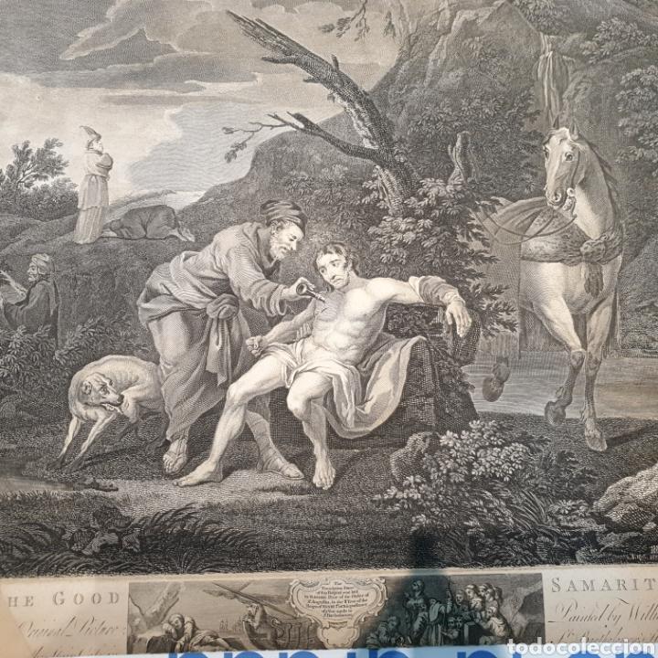 Arte: Grabado antiguo William Hogarth. El buen samaritano - Foto 5 - 194731395