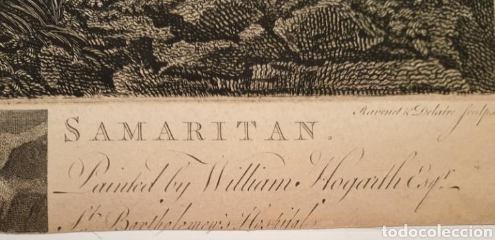 Arte: Grabado antiguo William Hogarth. El buen samaritano - Foto 6 - 194731395