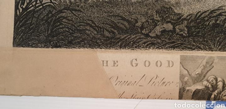 Arte: Grabado antiguo William Hogarth. El buen samaritano - Foto 7 - 194731395