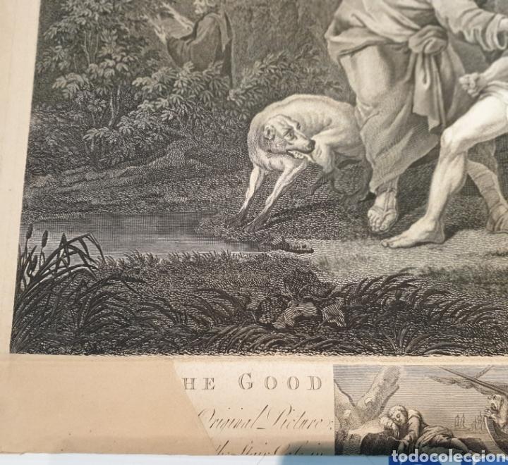 Arte: Grabado antiguo William Hogarth. El buen samaritano - Foto 8 - 194731395