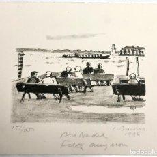 Arte: LITOGRAFÍA SIMÓ BUSOM GRAU (1927) BON NADAL FELIÇ ANY NOU 1996 - NUMERADA 151/250 - 23X18 CM / C-33. Lote 194734800