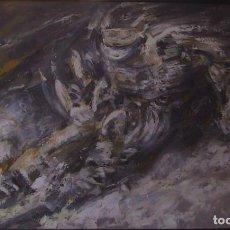 Arte: HOMENAGE A ULRIKE MAIER, ULTIMA CARRERA (ESQUI) ACRILICO SOBRE LIENZO, 1,49X93,5. Lote 194784110