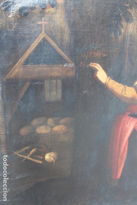 Arte: A-287. OLEO SOBRE LIENZO, ESCENA RELIGIOSA. S.XIX. - Foto 3 - 194787326
