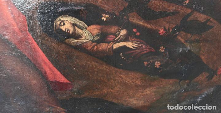 Arte: A-287. OLEO SOBRE LIENZO, ESCENA RELIGIOSA. S.XIX. - Foto 4 - 194787326