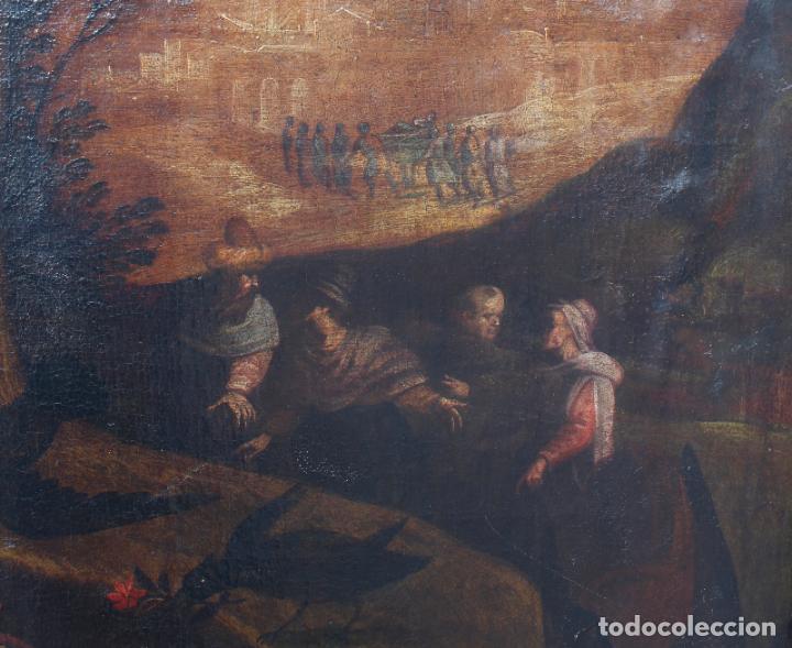 Arte: A-287. OLEO SOBRE LIENZO, ESCENA RELIGIOSA. S.XIX. - Foto 7 - 194787326