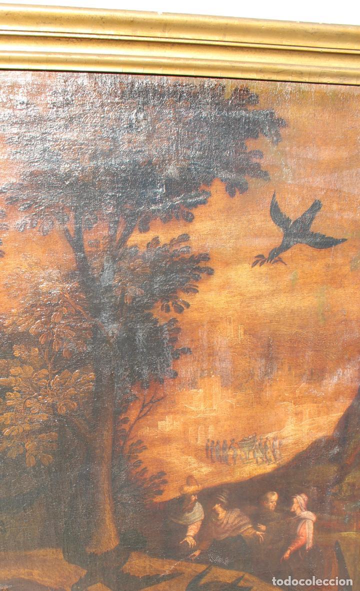 Arte: A-287. OLEO SOBRE LIENZO, ESCENA RELIGIOSA. S.XIX. - Foto 11 - 194787326