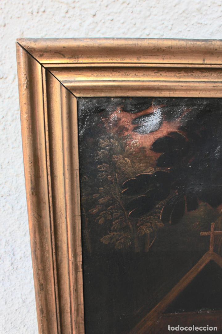 Arte: A-287. OLEO SOBRE LIENZO, ESCENA RELIGIOSA. S.XIX. - Foto 12 - 194787326