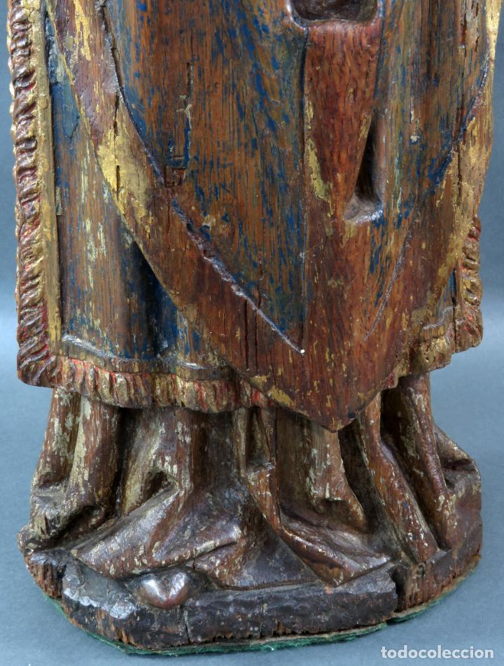 Arte: Talla obispo bendiciendo en madera tallada policromada circulo Alejo de Baiha principios siglo XVI - Foto 13 - 194787992