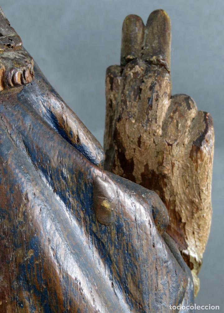 Arte: Talla obispo bendiciendo en madera tallada policromada circulo Alejo de Baiha principios siglo XVI - Foto 18 - 194787992