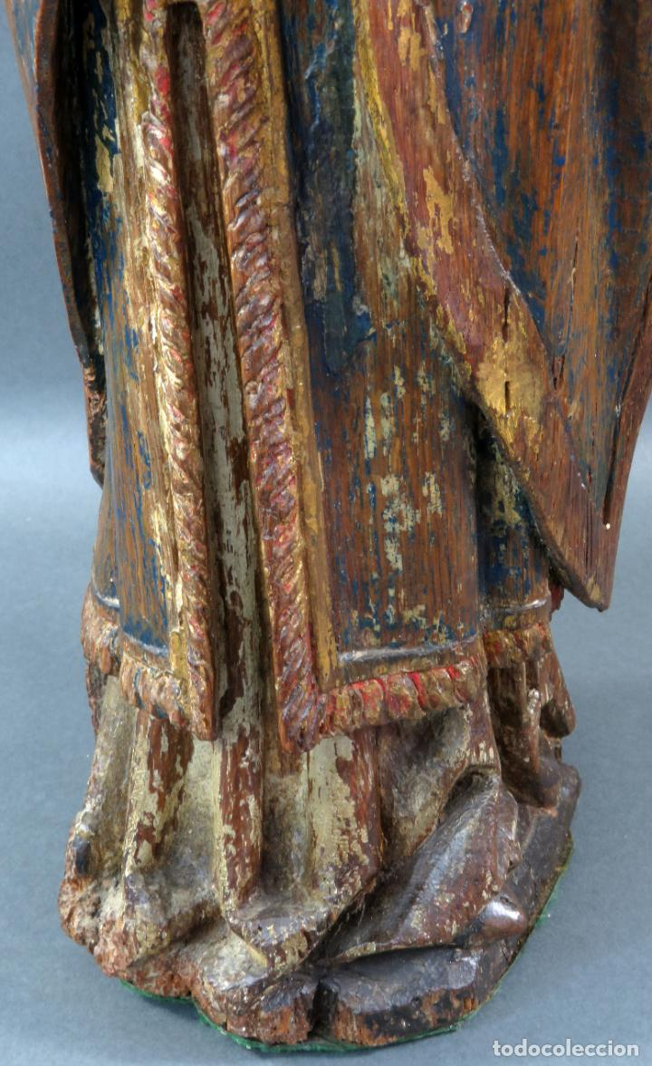 Arte: Talla obispo bendiciendo en madera tallada policromada circulo Alejo de Baiha principios siglo XVI - Foto 20 - 194787992