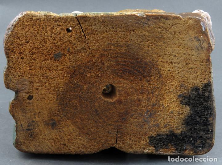 Arte: Talla San Juanito con el cordero madera tallada y policromada escuela portuguesa del siglo XVII - Foto 13 - 194798980