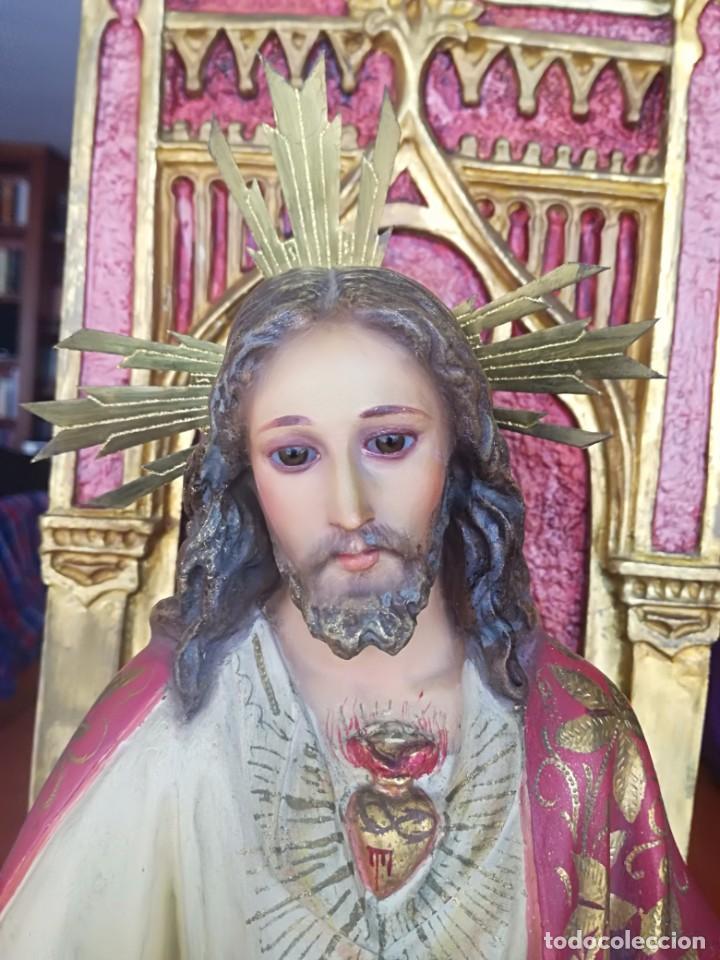 SAGRADO CORAZÓN ENTRONIZADO ARTE SACRO OLOT TALLER SANTA MARÍA DEL CLARET. (Arte - Arte Religioso - Escultura)
